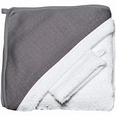 Red Castle Hooded Towel+Flannel Grey