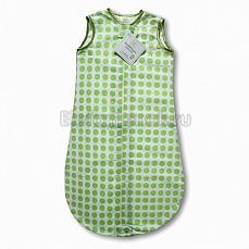 SwaddleDesigns TOG 0.7 zzZipMe Sack 6-12 M - Organic Flannel KW Dots & Stars