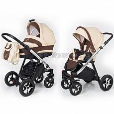 Esspero Newborn Lux 2 в 1 Beige Brown (Шасси chrome)