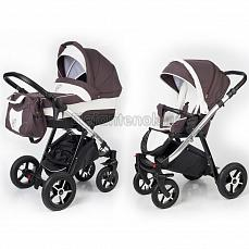 Esspero Newborn Lux 2 в 1 Brown Lux (Шасси chrome)
