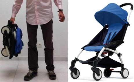 Компактная коляска трость для путешествий