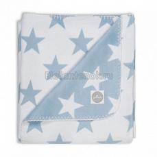 Jollein Плед 100х75 см Light blue Star (Голубые звезды)
