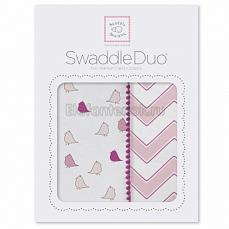 SwaddleDesigns Набор пеленок Swaddle Duo PK Chickies/Chevron