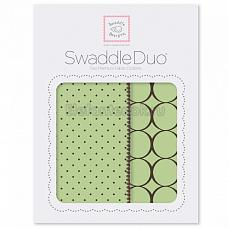 SwaddleDesigns Набор пеленок Swaddle Duo Lime Modern