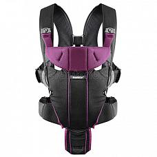 Baby Bjorn Carrier Miracle Black/Purple (Cotton Mix)