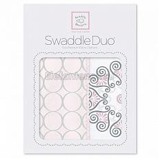 SwaddleDesigns Набор пеленок Swaddle Duo Pink Mod Medallion