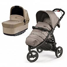 Peg-Perego Book Cross 2 в 1 (с люлькой Navetta Pop UP) MOD Beige + Cream