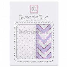 SwaddleDesigns Набор пеленок Swaddle Duo LV Classic Chevron