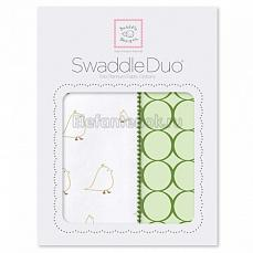 SwaddleDesigns Набор пеленок Swaddle Duo KW Big Chickies
