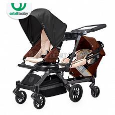 Orbit Baby G3 Growing Family (коляска для погодок) Mocha - капюшон Black