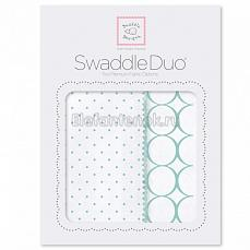 SwaddleDesigns Набор пеленок Swaddle Duo SC Classic