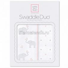 SwaddleDesigns Набор пеленок Swaddle Duo PP Elephant/Chickies