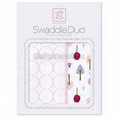 SwaddleDesigns Набор пеленок Swaddle Duo PP Cute & Wild