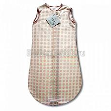SwaddleDesigns TOG 0.7 zzZipMe Sack 6-12 M - Organic Flannel PP Dots & Hearts