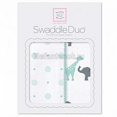 SwaddleDesigns Набор пеленок Swaddle Duo SC Circus Fun