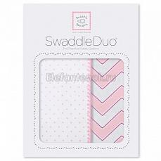 SwaddleDesigns Набор пеленок Swaddle Duo Pink Classic Chevron