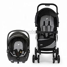 Joie Aire LX Travel System Midnight Dots