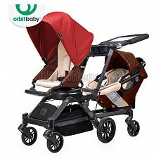 Orbit Baby G3 Growing Family (коляска для погодок) Mocha - капюшон Red