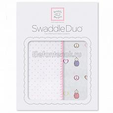 SwaddleDesigns Набор пеленок Swaddle Duo PK Peace/LV/SW