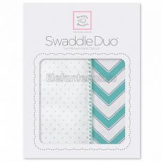 SwaddleDesigns Набор пеленок Swaddle Duo SC Classic Chevron