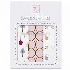 SwaddleDesigns Набор пеленок SwaddleLite Cute & Calm Pastel Pink