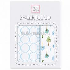 SwaddleDesigns Набор пеленок Swaddle Duo PB Cute & Wild
