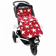 BuggySnuggle Stars Red / White Fur Цвет не выбран