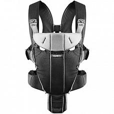 Baby Bjorn Carrier Miracle Black/Silver (Cotton Mix)