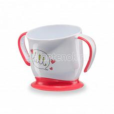 Happy Baby BABY CUP WITH SUCTION BASE Кружка на присоске Red