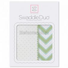 SwaddleDesigns Набор пеленок Swaddle Duo KW Classic Chevron