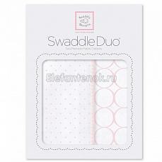 SwaddleDesigns Набор пеленок Swaddle Duo Pstl Pink Classic