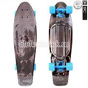 "Y-SCOO 402H-Bb Скейтборд Y-SCOO Big Fishskateboard metallic 27"" винил 68,6х19 с сумкой"