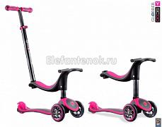 Y-SCOO GLOBBER My free Seat 4 in 1 TITANIUM neon Pink