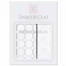 SwaddleDesigns Набор пеленок Swaddle Duo ST Mod C/Sparklers